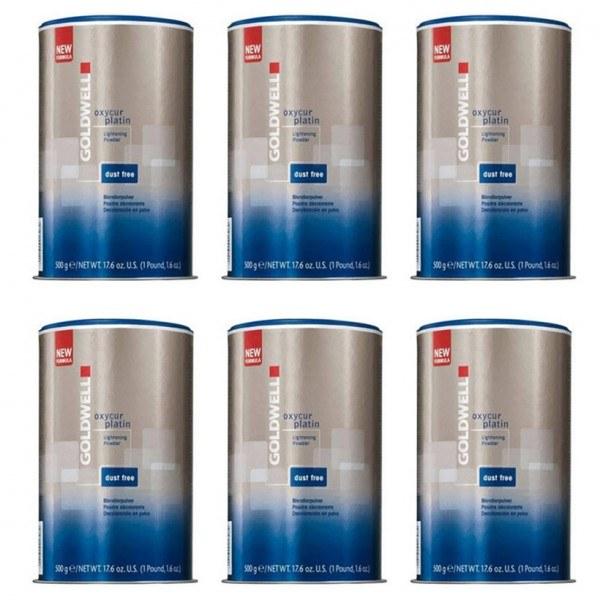 Goldwell Oxycur Platin Staubfrei Blondierpulver 6x500g