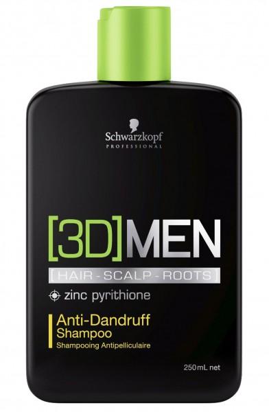 Schwarzkopf Professional 3D MEN Anti Schuppen Shampoo 250ml
