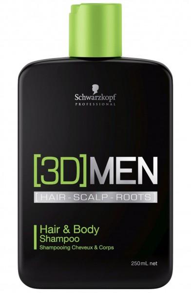Schwarzkopf Professional 3D Mension Hair & Body Shampoo 250ml