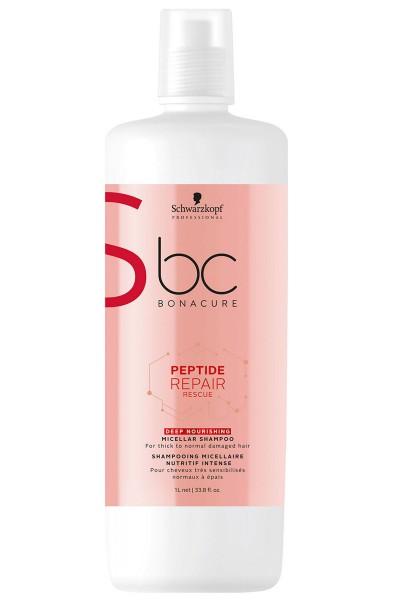 Schwarzkopf Professional BC Peptide Repair Rescue Deep Nourishing Micellar Shampoo 1000ml