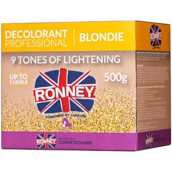 Ronney Professional Blondie 9 Tones of Lightening Dust Free Aufheller Pulver 500g